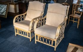 Pair of Bamboo Conservatory Armchairs, u