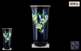 Ando-Jubei Company (fl 1876-1953) Fine Enamelled Trumpet Shaped Vase of Large Size and Exhibition