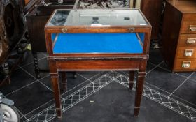 Mahogany Shop Counter Display Cabinet with a glazed top and sides, with opening back panel,