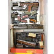 OO gauge model railway wagons, rolling-stock and coaches; a collection of mostly by Hornby Dublo