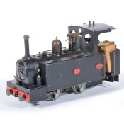 A 16mm scale / O gauge live steam locomotive; a converted Mamod body to Salam River class type
