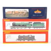 Three Hornby and Bachmann OO gauge model railway locomotives.