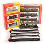 Five Hornby OO gauge model locomotives, loose and boxed.