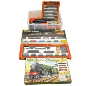 OO gauge model railways; a good collection including four sets, etc