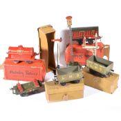 Selection of pre-war Hornby, Bing and Bassett-Lowke O gauge model railway,