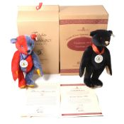 Two Modern Steiff teddy bears; club edition 1999/2000 & 2000/2001