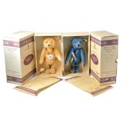 Two Modern Steiff teddy bears, club edition 1994/1995 and 1995/1996