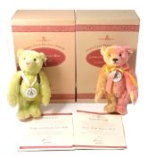 Two Modern Steiff teddy bears, 1999/2000 club edition and School Starter 1998/1999