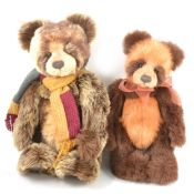 Charlie Bears; two including Ade and Ashton, both with tags.