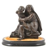 Bronze group, Madonna and child
