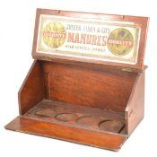 A 19th Century mahogany slope top samples box