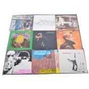 Eight LP vinyl records, John Cale, Free, David Bowie, Biran Eno, etc.