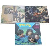 Pink Floyd; Three LP vinyl records.