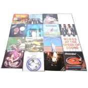 Collection of vinyl LP records, including Pink Floyd, Deep Purple, The Who, etc