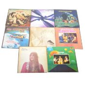 Thirty LP vinyl records; mostly 1970s Rock, Progressive Rock, Psychedelic Rock and others