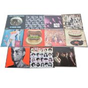 The Rolling Stones; Eleven LP vinyl records including Exile of Main St