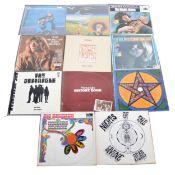 Eleven LP vinyl records; mixed music types including Van Morrison