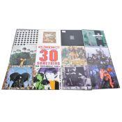 Twelve LP vinyl records; including, Joy Division - Unknown Pleasures, Carter The Unstoppable Sex