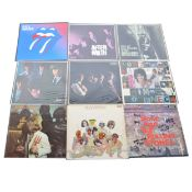 The Rolling Stones; nine LP vinyl records