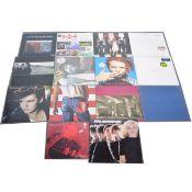 Fourteen LP vinyl records; including Blondie, Paul Young etc