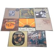 Eight Leicestershire interest LP vinyl records.