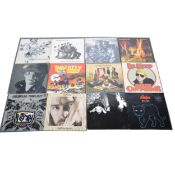 Twenty-seven LP vinyl records; mostly Punk, Indy, New Wave and Rock