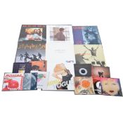 """Collection of 12"""" and 7"""" vinyl music singles; in a large and small carry case, mostly 1980s pop"""