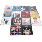 Fourteen LP vinyl records; including David Bowie, Captain Beefheart, Fleetwood Mac etc