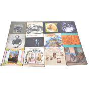 Eighteen LP vinyl records, including T Bone Walker, Sonny Boy Williamson, etc