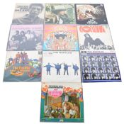 Nine vinyl LP records; including Incense and Peppermints - The Strawberry Alarm Clock