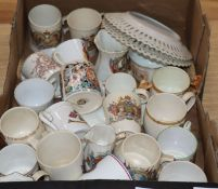 A collection of Edwardian and later commemorative ceramics