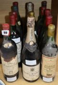 Fifteen assorted wines, champagnes including Heidsieck