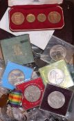 A UK Specimen coin set 1968 2nd issue, 1971 and 1977 proof coin sets, other various crown sets