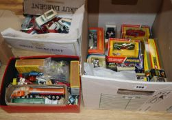 Various Dinky and Corgi models, boxed and booklets, 1970's