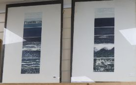 Brenda Hartill, two limited edition prints, Sea Variations I and II, signed in pencil, 76 x 56cm