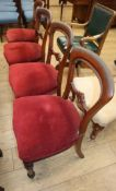 A set of six Victorian mahogany balloon back dining chairs
