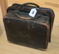A Victorian leather doctor's bag