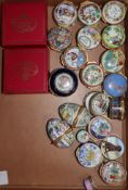 A collection of 21 Halcyon Days boxes