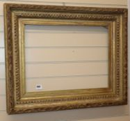 A Victorian giltwood and gesso frame
