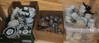 A collection of coronation cups and mugs