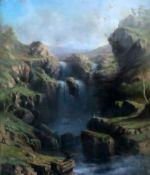 John Shearer Bowman (Australian/British 1819-1909)pastelFalls on the Crackenback River, South of