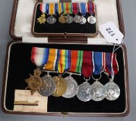 A WW1/WW2 medal group of seven to Major W. L. Greenlees, Scots Guards Special Reserve battalion
