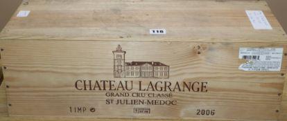 An Imperiale bottle of Chateau La Grange Saint Julien 2006 (o.w.c.)