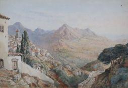 General Sir John Miller Adye R.A. (1819-1900)watercolour'Gaucin' (Southern Spain)titled, signed 'J