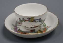A Meissen tea bowl and saucer, c. 1750 diameter 12cm