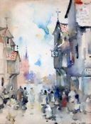 James Watterson Herald (1859-1914)watercolourStreet scene with Lion tavern and 'Good Ales'