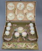 A French porcelain doll's teaset