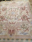 An Aubusson style tapestry wall hanging 308 x 237cm