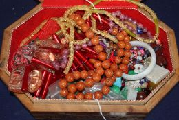 A quantity of assorted Chinese necklaces etc.