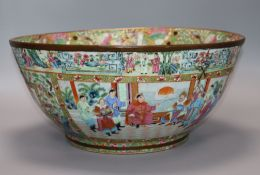 A large Chinese famille rose bowl, Daoguang period diameter 37cm